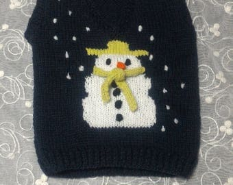 3D Snowman Knit Sleeveless sweater