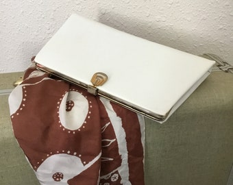 1960's Vintage White Clutch Purse