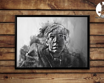 Stephen Hawking Print wall art home decor poster