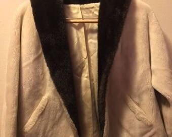 50s 60s Faux Fur Shrug Wrap