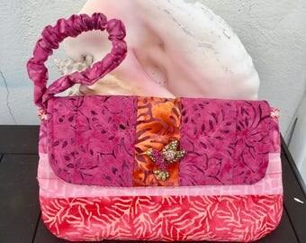 Batik Clutch, Wristlet