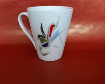 Abstract painting porcelain cup
