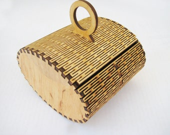 Jewelry box,,A casket made of wood,Wooden box,natural unfinished wood box, plain hinged wooden box,jewelry box,DIY blank wooden box