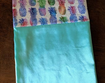 Flannel Lined Satin Pillow Case