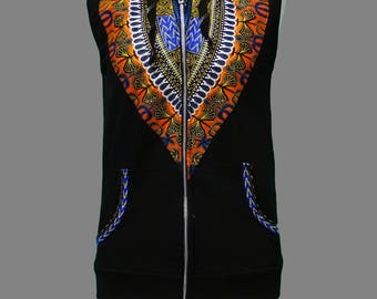 Dashiki African inspired Ladies Zoodie (SMALL)