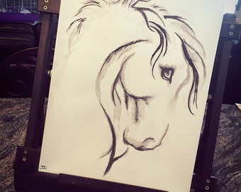 Horse head painting #004