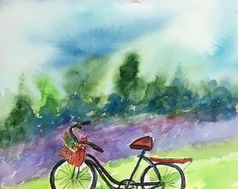 The Old Bike - watercolor
