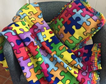 Toddler Size Autism Blanket
