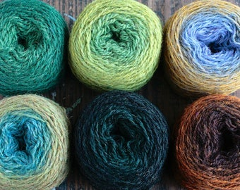 Pure wool knitting yarn - 6 x 28 g