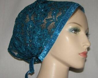 Fancy Kerchief Head Covering | Head Wrap  | Bandanna | Tichel | Lace Scarf | Mitpachat | Headcovering | Veil | Hair Cover | Elegant Wear