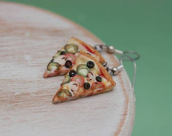 Veggies Pizza Earrings