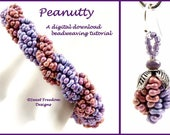 Peanut Beadweaving Tutorial, Bracelet Pattern, Peanut Bead Pattern, Peanut Tutorial, Earring Design, .pdf Instructions for Personal Use