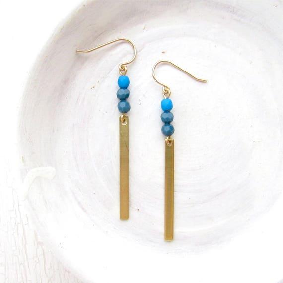 Reflection Earrings > Cobalt