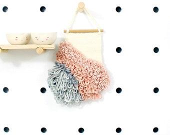 swan lake    .. wall hanging, weave, woven, wall art, wall decor, nursery art decor, home, living wall art,