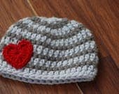 Crochet baby hat, Newborn preemie hat, Crochet baby hats, valentines newborn  infant hat, Crochet photo prop, valentines day gift for baby