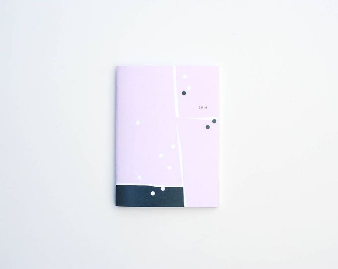2018 Monthly Planner - Pink/Blue