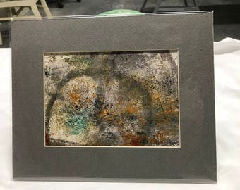 Labyrinth, oil with texture, matted, ready to frame, abstract, small art, all original, one of a kind