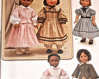 "Antique Style Doll Clothes Pattern, Simplicity 1391, for 18"" Doll"