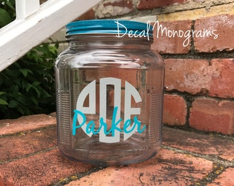 Monogram and Name vinyl Decal