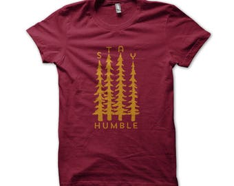 Stay Humble unisex cranberry tee
