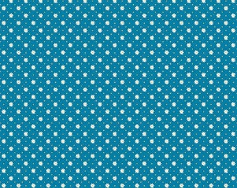 ON SALE Penny Rose Fabrics Gingham Girls By Amy Smart Flower Blue