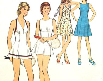 Tennis or Regular Dress and Panties Bust 36 Size 14 Style 4589 Vintage Sewing Pattern