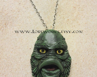 Creature From The Black Lagoon statement pendant