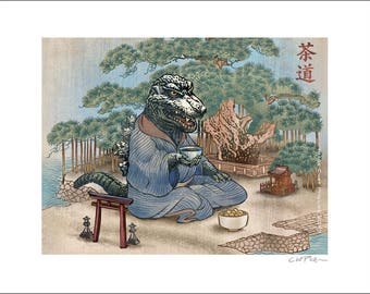 King of the Monsters Tea Ceremony- 11 x 14 Signed Print