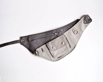 Leather waist bag, leather belt bag belt, Festival Belt, Leather Pocket Belt, Coachella Fanny Pack, designer fanny pack