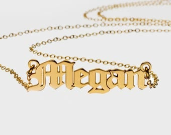 24K Gold Plated, Custom Name Necklace - Personalized Name Necklace - Name Necklace - valentine's day gift, love day gift, kiss day gifts