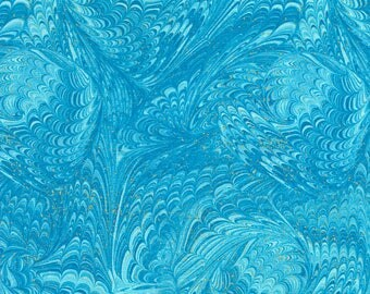 Marble Aqua Enchanted Chong-A Hwang Timeless Treasures Fabric