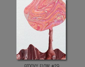 Groovy Abstract Acrylic Flow Painting #29 Ready to Hang 8x10