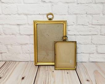 Vintage Brass Metal Frame Set of 2