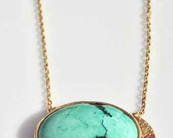 """Turquoise Eclipse Necklace 