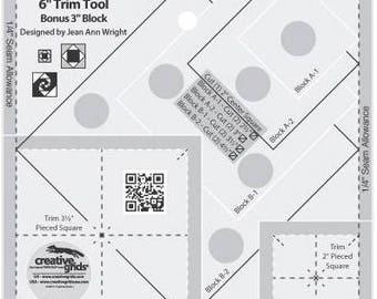 Square in Square Trim Tool Rotary Cutting Ruler, Creative Grids