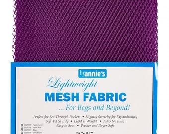 Mesh fabric Light Weight--18 inch x 54 inch Pocket Mesh Tahitian Purple