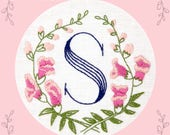 Monogram Flower PDF Pattern - S is for Snapdragon