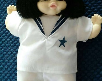 "Vintage Mieler J.M.B.J. 8"" Doll Sleeping Sailor Suit Hong Kong Mikkel B.Jacobsen"