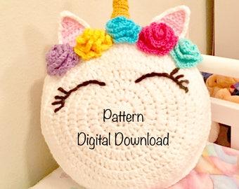 Unicorn Pattern, Unicorn Crochet, Unicorn Pillow , crochet Patterns on sale, Unicorns, Unicorn theme bedroom,