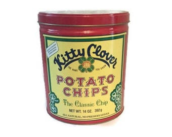 Potato chip tin | Etsy