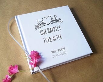 Our Bucket List, Our Happily Ever After, Personalized First Wedding Anniversary Gift, Custom Anniversary Journal, Anniversary Gift for Her