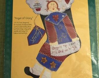 Alma Lynne Felt Christmas Stocking Kit Angel of Glory 83797 Xmas
