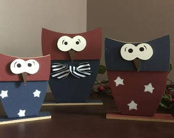 Owls, americana design