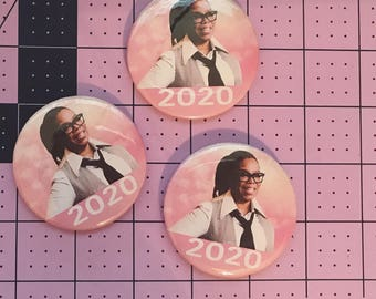 """Oprah 2020 - 2.25"""" Pinback button"""