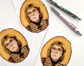 5x Twin Peaks Log Lady Cards fire walk with me