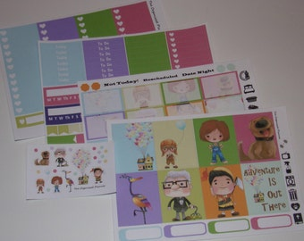 UP Inspired Weekly Sticker Kit  / Great for your vertical Erin Condren Life Planner