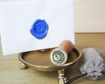 Sun and Moon Wax Seal Stamp