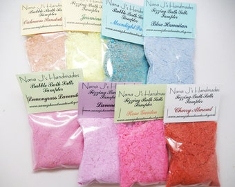 Bubble Bath Salts, Fizzing Bath Salts, Bubble Bar,Bath Salts,Bath Bomb,Fairy Dust,Fizzing or Bubble Bath Sampler MIX N' MATCH 6 packs for 7