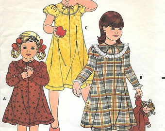 Butterick 6177 1980s Betsey Johnson Girls Dress Vintage Sewing Pattern Size 6