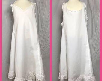 1950s Little Girls White Slip by Style Undies - Size 8 10